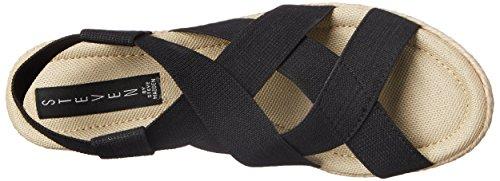 Steve Madden , Sandales pour femme 0 Black Fabric/Solid