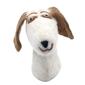 Filztier Tier-Eierwärmer Hund aus Filz Handarbeit Ostern gefilzte Tierfigur