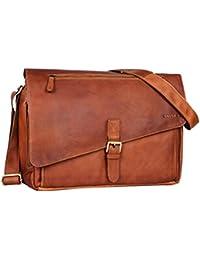 5e41e002e05 STILORD  Merlin  Bolso bandolera mujer grande vintage bolso hombre para  notebook 15.6 pulgadas bolso de negocios grande bolso para estudiantes de  piel ...