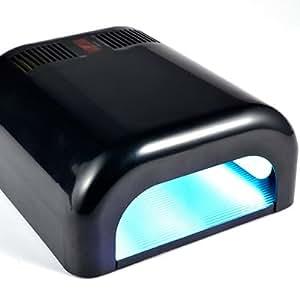 FRAULEIN 38 NEW BLACK 220V 36W UV GEL CURING LAMP LIGHT NAIL DRYER NEW