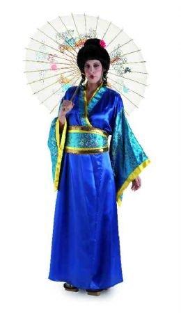Kostüm Geisha-Blau - Mujer, ()