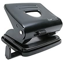 Rapesco 825 - Perforadora metálica de 2 agujeros, 25 hojas capacidad, color negro