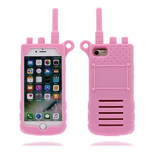 Custodia iPhone 7 Plus, 3D Cartoon Telefon Cover TPU protettivo flessibile alla moda Case per iPhone 7 Plus, Shell iPhone 7 Plus copertura 5.5 pollici Graffi la polvere resistente blu rosa