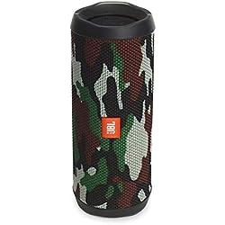 JBL Flip 4 Enceinte Portable Robuste - Étanche IPX7 pour Piscine & Plage - Autonomie 12 hrs - Qualité Audio - Édition Spéciale, Bluetooth, Camouflage