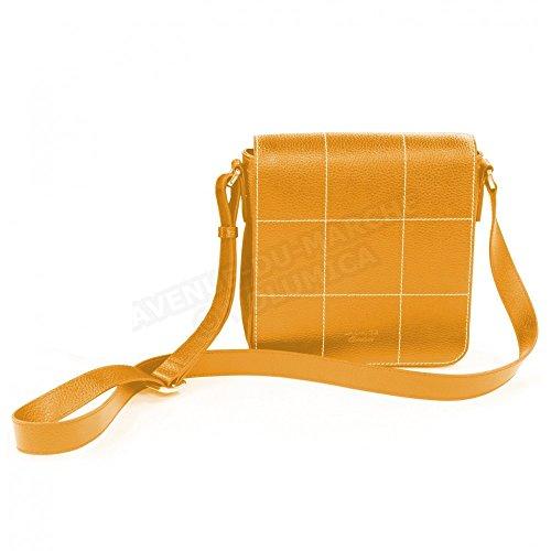 Sac besace la Rochelle cuir Fabrication Luxe Française Orange