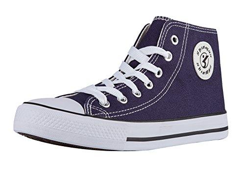 Shinmax New Unisex Hallo-Spitzen Canvas Alle Saison Schnürer Schuhe Casual  Sneaker für Männer und