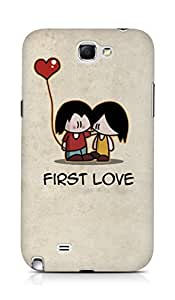Amez designer printed 3d premium high quality back case cover for Samsung Galaxy Note 2 N7100 (First love)