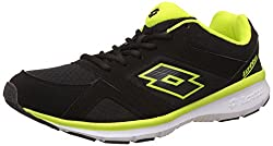 Lotto Mens Sunrise Iii Black and Lime Running Shoes - 9 UK/India (43 EU)