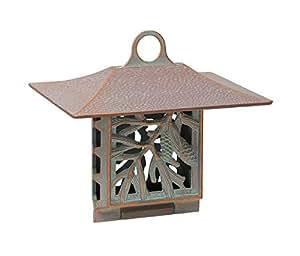 Whitehall Produkte Pinecone, aus Talg-Futterspender 30056 25.40 cm, es es x 22.86 cm hoch Kupfer-Grünspan-Optik