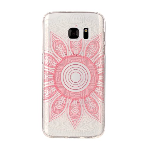 Hülle Galaxy S7, Asnlove Neue Modelle Crystal Case Handy Schutzhülle TPU Silikon Transparent Schutz Handy Hülle Case Tasche Etui Bumper für Samsung Galaxy S7 G930, Lace Color-8
