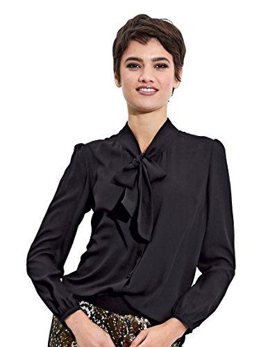 Damen Bluse mit Schluppe by AMY VERMONT Schwarz