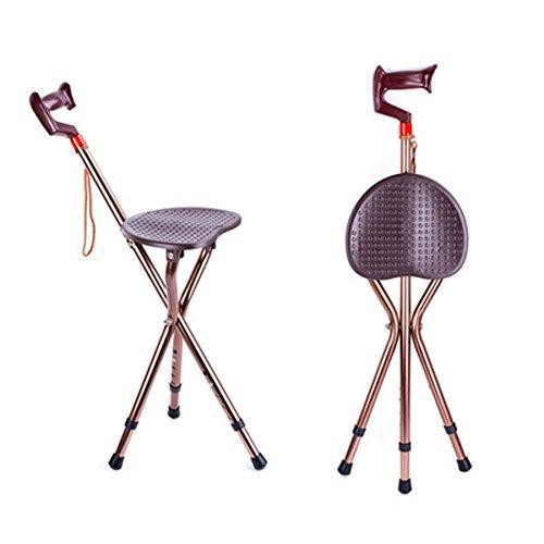 Q&F Walking Stock Sitz Massagesessel Lightweight Höhenverstellbar Tragbares Stativ Zuschauer Sitz