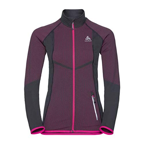 Odlo Velocity Midlayer Full Zip Jacket Women Graphite Grey/pink glo
