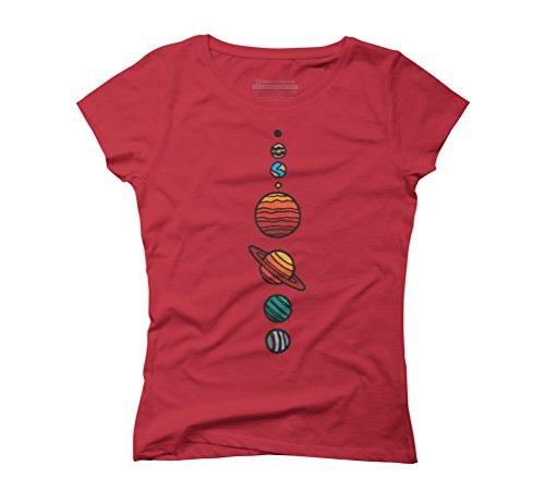Design By Humans Damen T-Shirt Rot