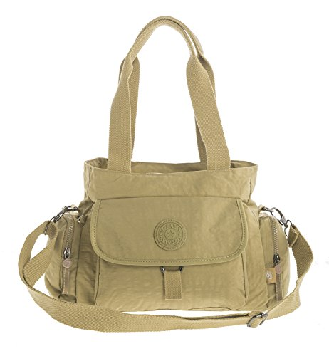 Big Handbag Shop, Borsa a tracolla donna Messenger Style 2 - Camel