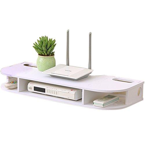 YANGWB2000 Free Punching Rack, Wohnzimmer Schlafzimmer Wand-TV Set-Top-Box, WiFi Wireless Router Storage Rack (Tv-ständer In Espresso)