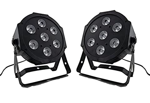 Eshine 2Pic/Lot 4/8 canaux DMX Led Flat Par 7x9W RGB 3IN1 Stage Lighting For Christmas Birthday DJ Disco KTV Bar Party Event Wedding