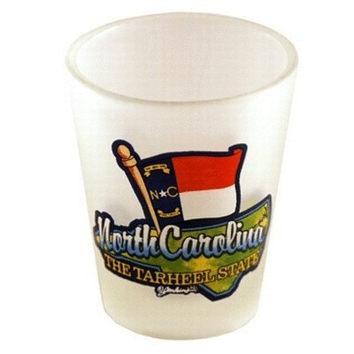 Bulk Buys North Carolina Shot Glass 2.25H X 2 in. W Frosted Map - Case of 96 by bulk buys