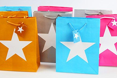 8 er SET ( = 8 Stück ) Geschenktaschen / Geschenktüten / Partytüten