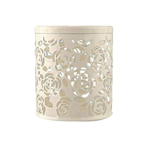 hosaire-1x-case-multicolor-hollow-rose-flower-pattern-cosmetic-metal-pen-pencil-pot-holder-organizer