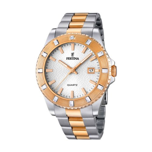 Festina Ladies Watch Vendome Analogue Quartz Stainless Steel Coated F16687 / 1