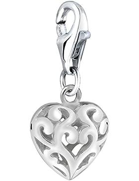 Nenalina Charm filigranes Herz Anhänger in 925 Sterling Silber für alle gängigen Charmträger 713016-000