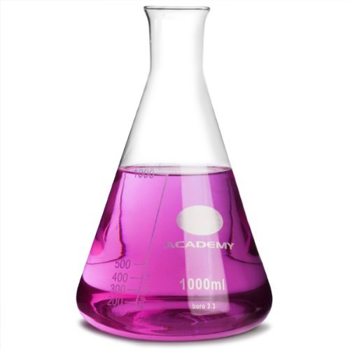 Academy bicchiere conico flask 1000ml misurazione flask, molecolare flask, erlenmeyer flask, chimica flask