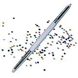 Strassstein-Picker mit 2 Spitzen - Nailart Werkzeug Tool + 100 Strass-Steine