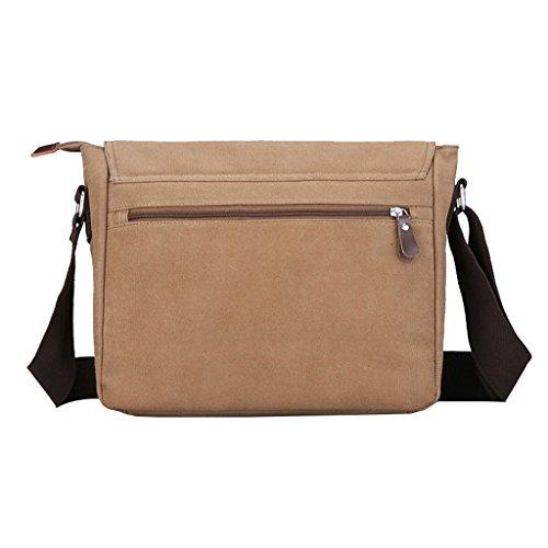Super moderno da uomo, in tela, borsa a tracolla messenger bag laptop computer bag Satchel bag Bookbag School bag, borsa a tracolla, Uomo, Blue Large Coffee Large
