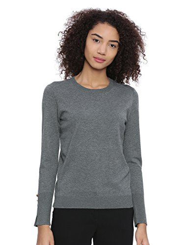 Chumbak Make Happy Solid Pullover Grey
