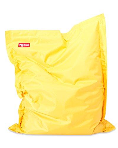 ROOMOX Original Junior Kinder-Sitzsack für drinnen und draußen Stoff 130 x 100 x 30 cm, gelb
