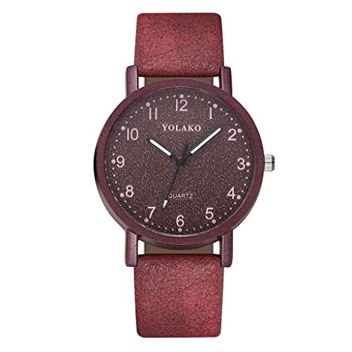 Saingace(TM) Damen Armbanduhr Elegante Quarzuhr Mode Einfachen Farbverlauf Zifferblatt mit Diamantgürtel Damen Quarzuhr