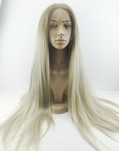 Gerade lange Haare Frauen, Mode, handgewebte, Lace Front, Perücken, Echthaar, ultra realistische, gefälschte Haare (Gefälschte Perücke)