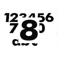 Hausnummer 7 H/ÖHE: 65mm ZAHL f/ür Haust/ür T/ür NUMMER Sprechanlage in WEISS witterungsbest/ändig HAUSNUMMERN kleben statt bohren Briefkasten u sch/önes Design und sehr einfache Montage 3mm dick KEINE d/ünne Folie