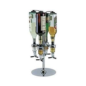 relaxdays distributeur doseur de bar support rotatif de bouteille pour 4 bouteilles. Black Bedroom Furniture Sets. Home Design Ideas