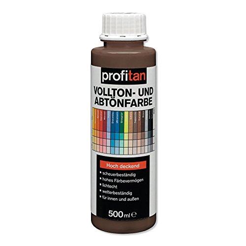 ROLLER profitan Vollton- und Abtönfarbe - braun - 500 ml