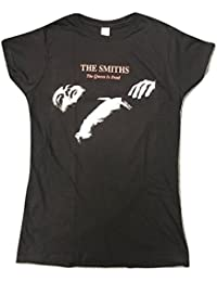 Ladies THE SMITHS 'Queen Is Dead' T SHIRT in BLACK
