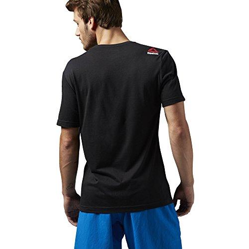 Reebok Herren Exploding Delta/Challenge Brings Change Tee T-Shirt Black