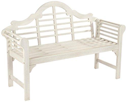 Greenhurst 4170Lutyens Stil Gartenbank, weiß, 129X 52X 89cm