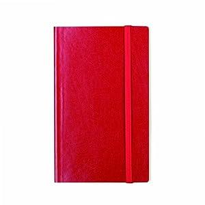 Notas y salpica VINSLRM001 -, Medio portátil de la Vendimia Forrada Tapa Blanda, Nuevo Titular de la Tarjeta de Visita, Rojo