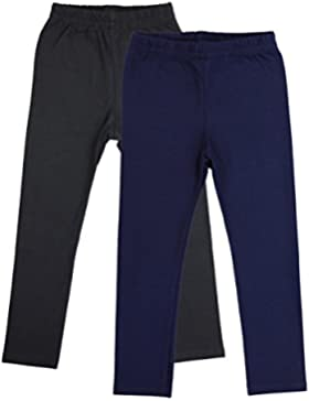 TupTam Mädchen Leggings Baumwolle Lange Kinderhosen 2er Pack