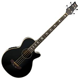 Classic Cantabile AB-40 Acoustic Bass Black (bass guitar with pickup / pickup, 3-band equalizer, rosewood and spruce)