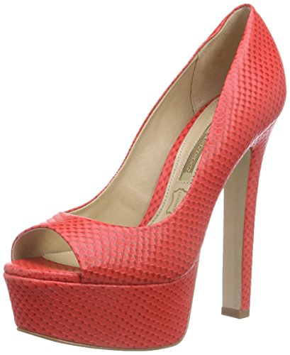 Buffalo London ZS 4757-14 AQUA MARINHO, Damen Peep-Toe Pumps, Rot (RED), 38 EU