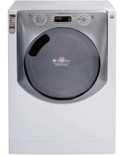 Hotpoint Waschmaschinen (Hotpoint Aqualtis AQ113D 69 EU/A Freistehende Waschmaschine, Frontladung, 11kg, 1600 U/min, A+++, Silber, weiß (freistehend, Frontbeladung, silber, weiß, Türbeschlag rechts, LCD, schwarz))
