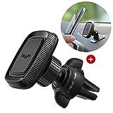 Ringke Power Clip Car Mount Handyhalterung Kfz Magnet Lüftungshalterung - Doppel Beule Technologie 360 Grad Drehung Magnet für Armaturenbrett Lüftungsschlitz [2 in 1] Für iPhone, Samsung, LG, GPS Usw.