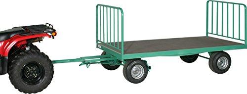 Schwarz Transportgeräte Handpritschenwagen mit Stirngittern Luftgummi-Breitreifen Handtransportgeräte, patinagrün, 290 x 120 x 121 cm