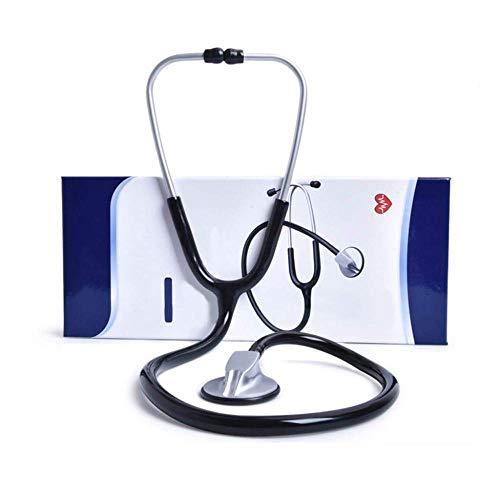 ZSDFGH Einzelkopf-Stethoskop Classic Lightweight Medical Home Listen Fetale Herzfrequenz Blutdruck Geschenk Krankenschwestern Ärzte Medizinstudenten,Black