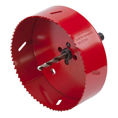 Wolfcraft 1 Lochsäge BiM Durchmesser 127 mm inklusive Schaft und Bohrer, 5495000