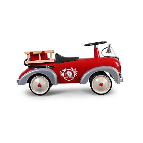 Baghera 838 - Speedster Pompier Porteur multidirectionnel, Nombreux accessoires réalistes, À partir de 12 mois - Rouge