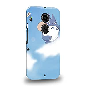 Case88 Premium Designs My Neighbor Totoro 0671 Coque protectrice pour Motorola Moto X (2nd Gen.)